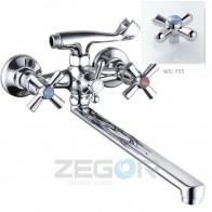 Змішувач для ванни ZEGOR T61-DFR-B725