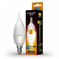 LED лампа VIDEX C37t 5W E14 4100K 220V