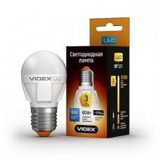 LED лампа VIDEX G45 6W E27 3000K 220V