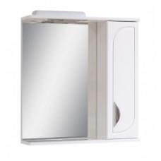 Дзеркало 0165 з шафкою 65см біле праве з декором