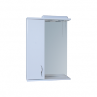 Зеркало 0150 со шкафчиком 50см белое левое
