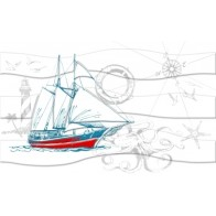 Декор Ocean корабель (М40331)  25*40 ( 1 шт.)