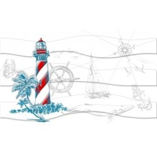 Декор Ocean маяк (М40321) 25*40 ( 1 шт.)