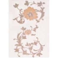 Декор Aura беж квітка 25х35 (1 шт.)
