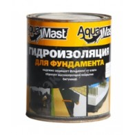 Мастика битумная для фундамента AquaMast 3 кг