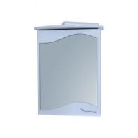 Дзеркало 0455 з шафкою 55 см біле зі світлом