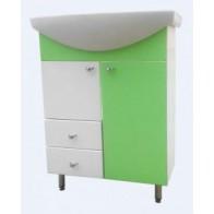 Тумба Класік з умивальником Лібра 60 см зелена