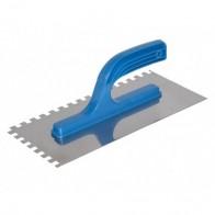 Терка нержавіюча гладка 130*270 мм, зуб 10*10 мм