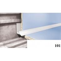 Уголки для кафельной плитки Cezar №101 (8 мм, 2,5 м., белый, внутренний)