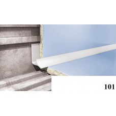Вугли для плитки Cezar № 101 (8 мм, 2,5 м., білий, зовнішній)