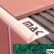 Вугли для плитки Cezar № 206 (9 мм, 2,5 м., зелений, зовнішній)