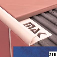 Уголки для кафельной плитки Cezar №210 (9 мм, 2,5 м., темно-голубой, внешний)