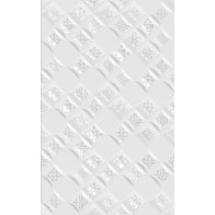 Декор Relax Aura белый ( 490401 )  25*40 (1шт.)