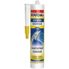 Герметик силіконовий Soudal санітарний білий 300мл