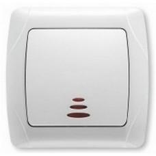 Выключатель VIKO Кармен 1кл с подсветкой