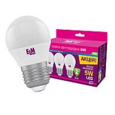 LED ELM лампа 5W 4000K D45 Е27 220V