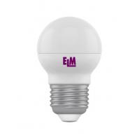 LED ELM лампа 6W 4000K D45 Е27 220V